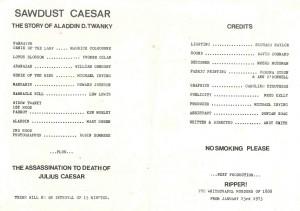 Sawdust Caesar - programme inner