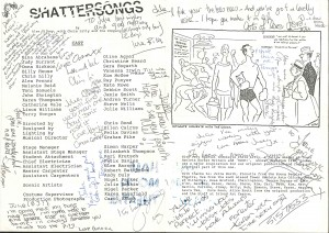 Shattersongs - Julia Williams Programme (Inside)