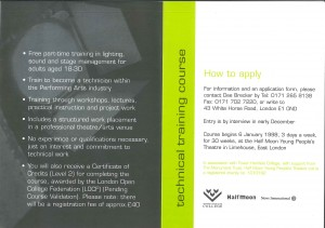 Technical Training Leaflet 1998 (Back)