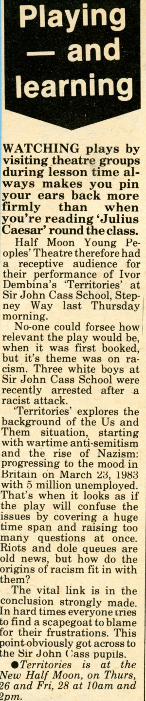 Territories - East End News, 27 Nov 1981.