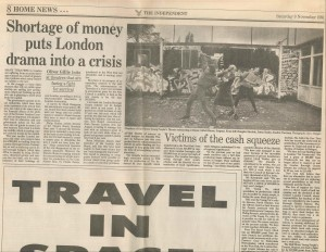 The Independent, Oliver Gille, 9 Nov, 1991 - Victims of the cash squeeze