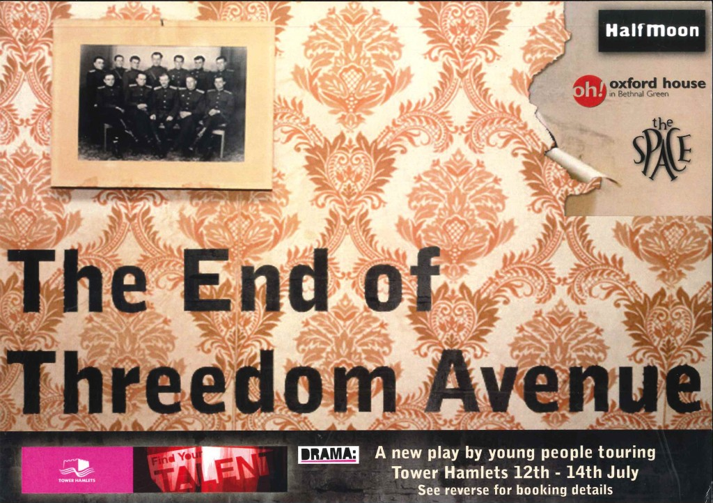 The End of Threedom Avenue - Flyer (Front)