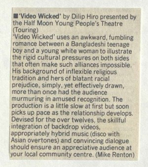 Video Wicked - Mike Renton, City Limits, 15 March 1985