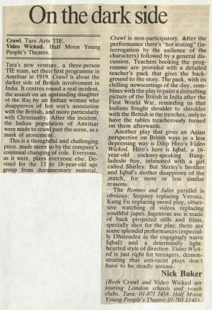 Video Wicked - Nick Baker, Times Educational Supplement, 22 March 1985