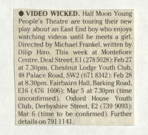 Video Wicked - What's On, 28 February 1985