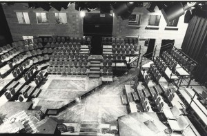 View of Auditorium for set of Destiny. Photo by Conrad Blakemore.