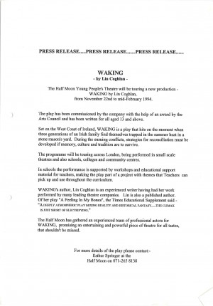 Waking Press Release
