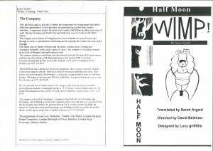 Wimp! Programme (1)