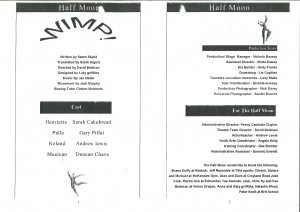 Wimp! Programme (2)