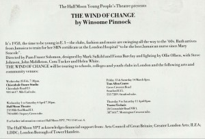Wind of Change, The. Flyer (Back)