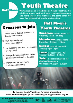 Half Moon / Youth Theatre flyer, 2013