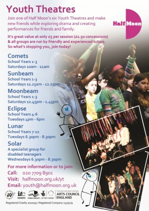 Half Moon / Youth Theatre flyer, 2014