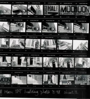 Contact Sheet of photos of Half Moon building