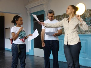 Cast and Director, Look to the Sky rehearsal photo (3)