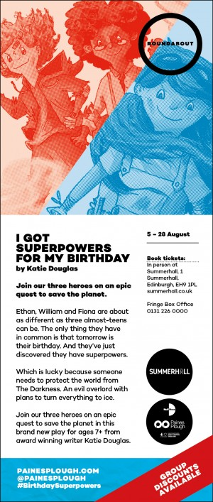 I Got Superpowers For My Birthday flyer