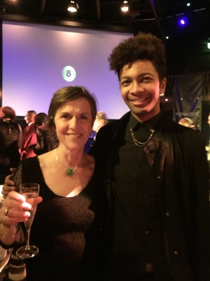 Rosemary Harris and Tanaka Mhishi at the Offies, Off West End Theatre Awards