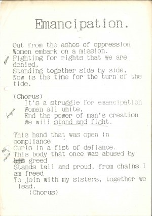 Dancing in the Shadows - Emancipation - Lyrics (1)