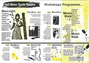 Half Moon Youth Theatre Workshops Leaflet Autumn 1990 - Back