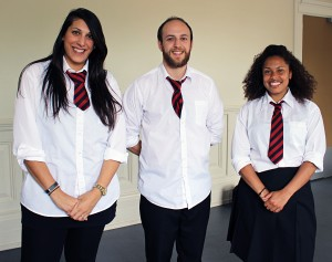 2017 Transitions team - Androulla Constantinou, Mark Conway and Lydia Fraser