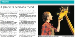 Newham Recorder, The Girl and the Giraffe, 2016.12.07
