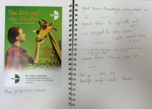 The Girl and the Giraffe audience feedback, 10 December 2016