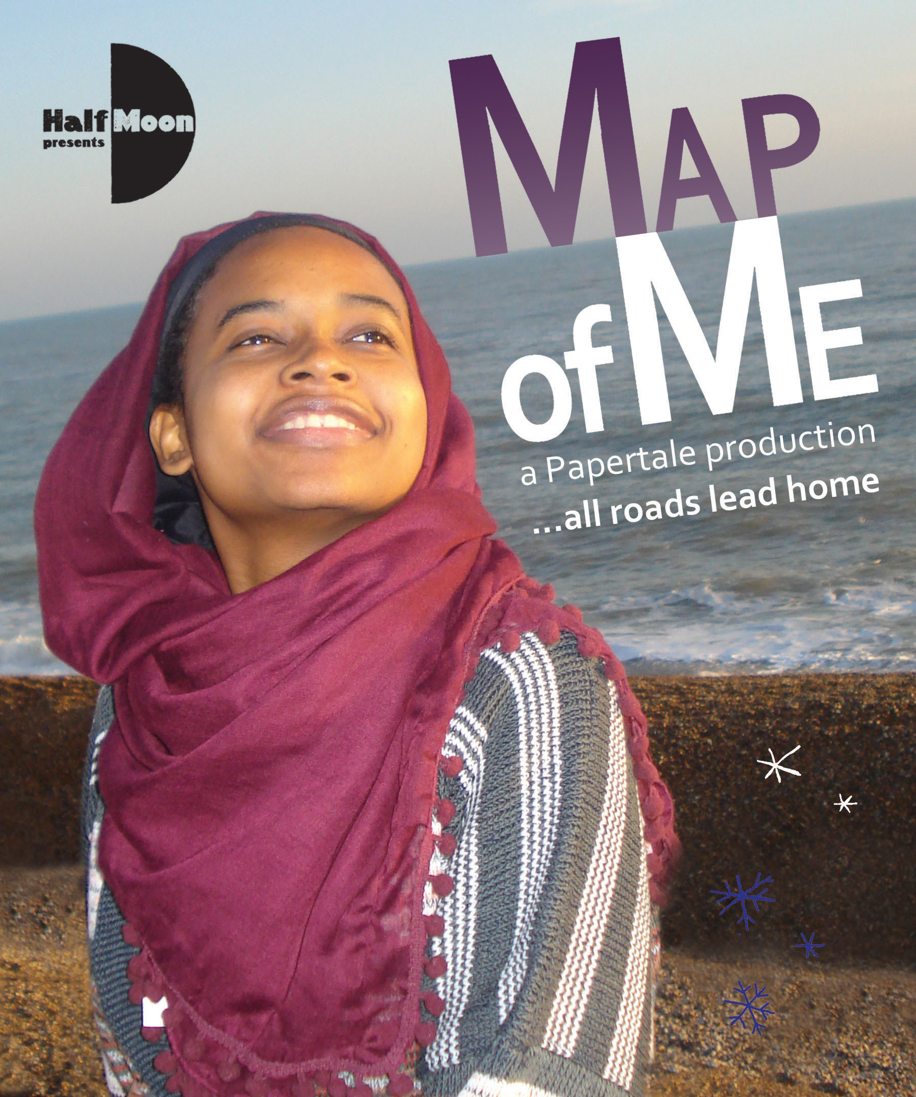 Map of Me flyer front with no overprinting space