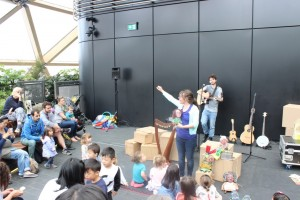 Lullaby Lane performance at the Crossrail Place Roof Garden