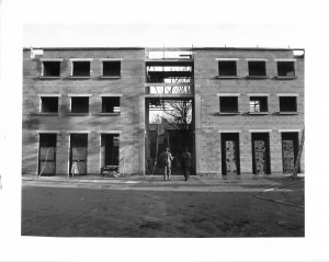 Half Moon Theatre taking shape. Photo given to Half Moon by Stephen Murphy, Development Director for the Half Moon 1983-85.
