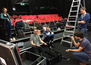 Friends for All get-in at Half Moon Theatre