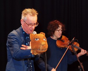 John Hegley: All Hail the Snail (and other creatures) tech rehearsal. Photo by Jim Conboy