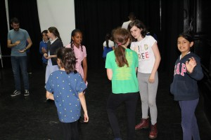 Equinox Youth Theatre rehearsing their Playful Heritage project A Stroll Down Memory Lane