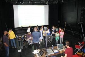 Eclipse Youth Theatre rehearsing their Playful Heritage project The Bomb Site Playground
