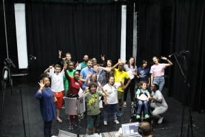 Solar Youth Theatre rehearsing their Playful Heritage project Rock Around the Clock