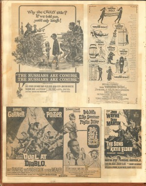 Cinema adverts from Michael Freeman scrapbook.