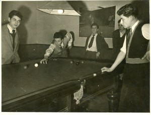Snooker at the Brady Club. Image courtesy of the Tower Hamlets Local History Library and Archives.