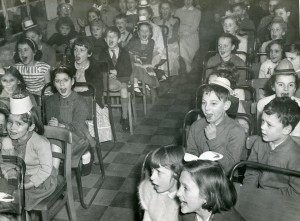 Civil Defence annual children's Christmas party, 1956. Image courtesy of the Tower Hamlets Local History Library and Archives.