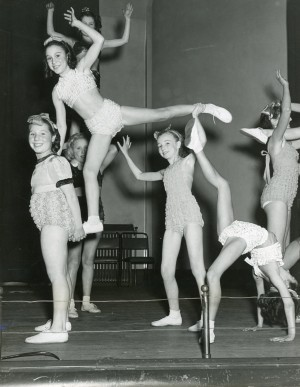 Girl artistes at York Hall, 1950. Image courtesy of the Tower Hamlets Local History Library and Archives.