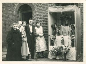 Altar in street, annual festival 1960s