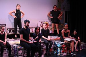 Equinox Youth Theatre rehearsing A Stroll Down Memory Lane