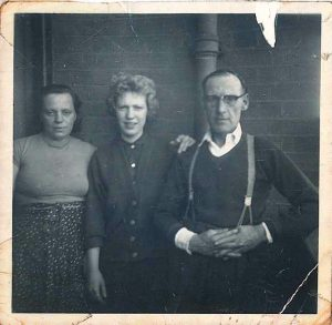 June McDonald with parents aged 15 1950s