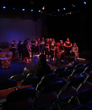 Lunar Youth Theatre rehearsing Down the Olde Rub-A-Dub, part of Playful Heritage