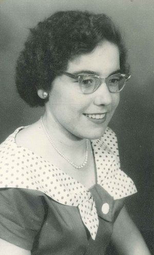 Pamela Hill age 15, going out to the cinema dress aged 15 whne she was an office girl in Woolworths
