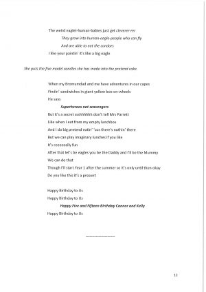 Off the Grid, by David Lane. Script extract, page 12