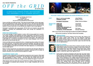 Off the Grid, inner programme