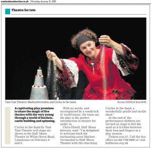 Circles in the Sand - Docklands & East London Advertiser, 31 January 2019