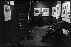 From the Mike Goldwater Collection at the Four Corners Archive. Half Moon Theatre actors wait in the gallery for their cue during a dress rehearsal. Photo by Mike Goldwater