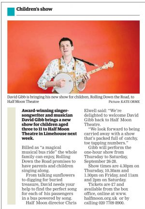 Rolling Down the Road, East London Advertiser, 19 September 2019.