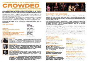 Crowded (theatre tour) programme