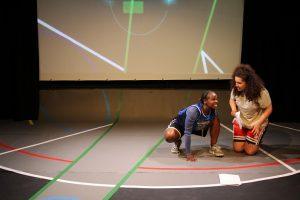 Production photo of Tatenda and Amal from Hot Orange