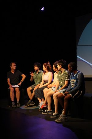 Production photo of Q&A with the creative team of Hot Orange